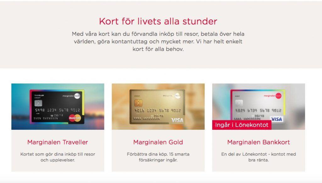 Marginalenbank kreditkort