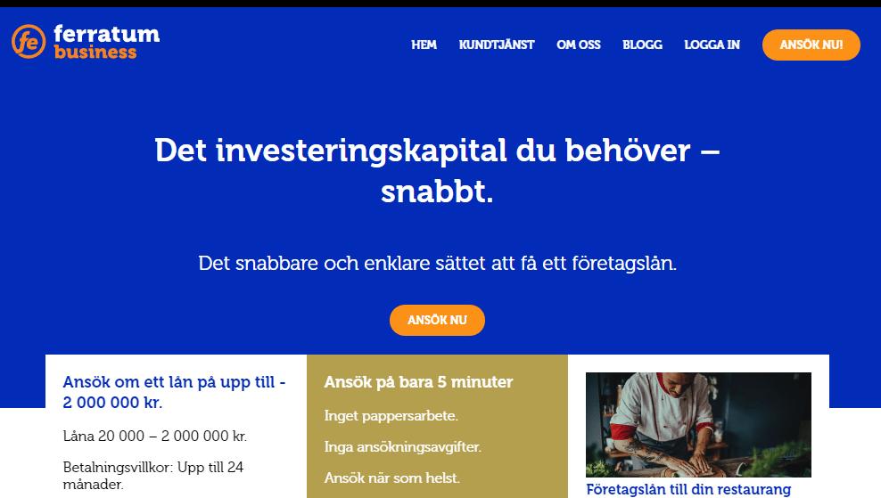 Ferratum business Företagslån