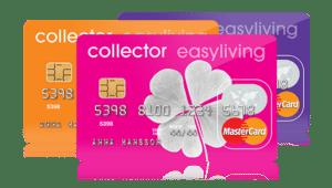 Hos Collector bank kan du ansöka om kreditkortet easyliving eller easycard.
